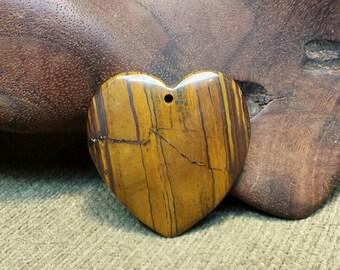 Sale #EarthDay ~ Beautiful Earth Shades in Tiger Eye Iron Heart