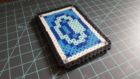 Cards of Fate (Blue) - League of Legends, Twisted Fate, Blue Card, pixel art