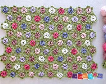 Crochet Afghan, Crochet Pattern Blanket , PDF Baby Afghan , Step by Step Photo Tutorial , Instant Download, Baby Shower, Newborn Photo Prop