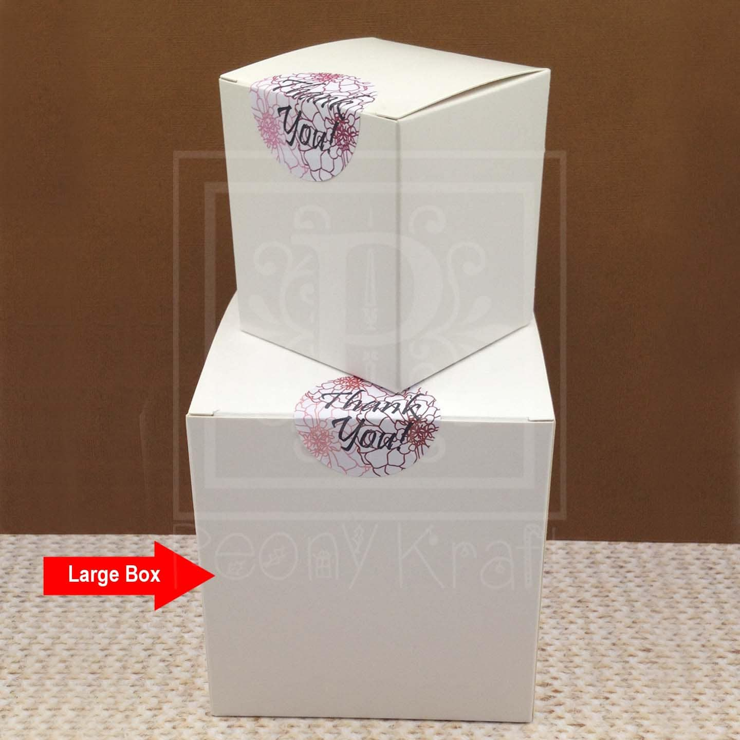 Set of 10 - Large Square Gift Boxes, Wedding Favor Boxes, Party ...