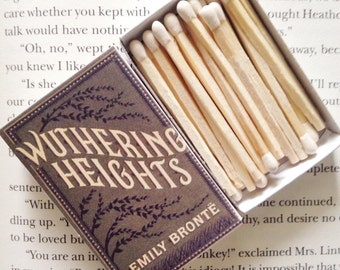 Wuthering Heights Book Matches // Emily Bronte // Stocking Stuffers