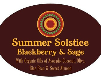 Summer Solstice Blackberry Sage Artisan Soap
