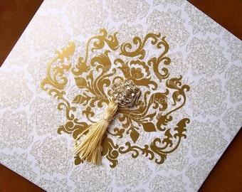Damask Folded Invitation