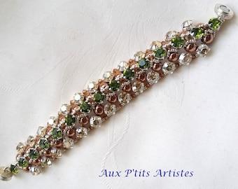 """""""Azzura"""" golden and olivine swarovski crystal bracelet"""