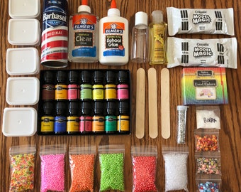 Scented SLIME KIT (DIY) + Recipe - pick your own scent