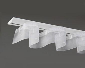 Rideau Wave | Ruban Easyfold pour rideau ondulé Ripplefold sans boutons pression | 5 mètres Galon tête rideau Fourniture traitement fenêtre