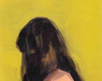Portrait in Yellow . giclee art print