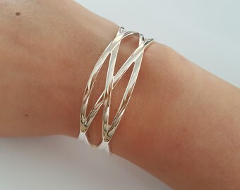 Contemporary Modern Cuff Bracelet