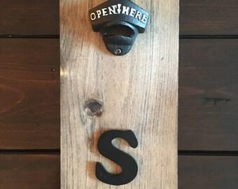 Rustic Wall Mounted Bottle Opener / Beer Opener