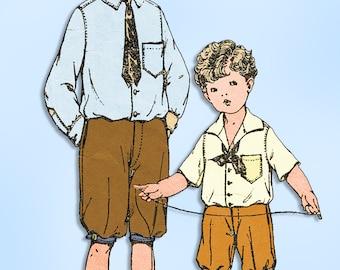 1920s Original Vintage McCall Pattern 2980 Boys Suit w Knickerbockers Size 12