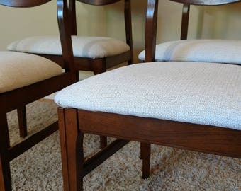 Mid Century Danish Style Set of Four Dining Chairs by Keller Furniture