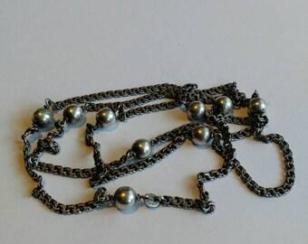 Vintage sterling silver fantasy necklace