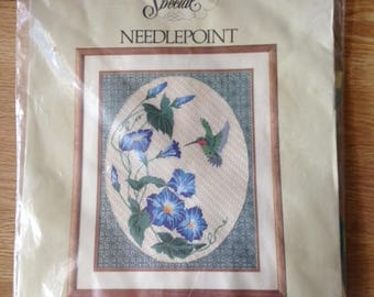 Something Special Needlepoint Kit Morning Glories And Hummingbird Picture Needlepoint Kit #30403
