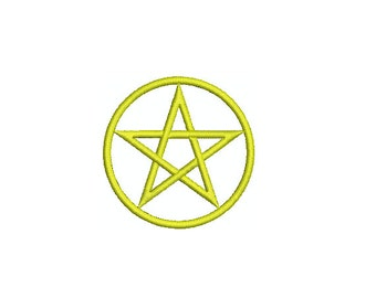 Machine Embroidery Design Instant Download - Pentacle 2