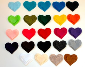 36 Die Cut Hearts -- a Dozen Sets -- Pick Your Own Colors