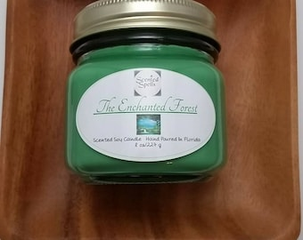 The Enchanted Forest Soy Wax Candle // Vegan // Eco-Friendly // Fantasy Inspired