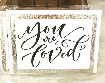 You Are Loved Note Cards or Gift tag sets campaign to bring mental health awareness and suicide prevention