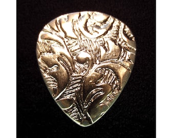 Antique German Nickel Silver Guitar Pick - Standard 351 2mm Heavy - Free Shipping with Extra Gifts Included