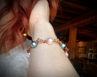Beautiful copper bracelet One of  kind