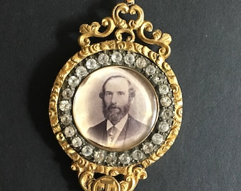 Unusual and Striking Victorian Mourning Pendant