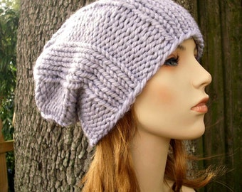 Knit Hat Mens Hat Womens Hat - Watchman Cap Beanie in Pewter Heather Grey Knit Hat - Grey Hat Grey Beanie Womens Accessories Winter Hat