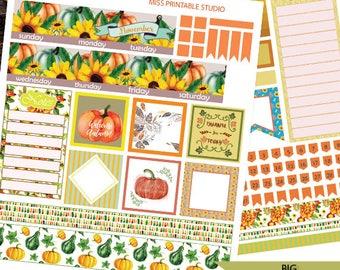 November Big HP Planner Stickers, Big HP Thanksgiving day Planner Stickers,Monthly Planner Kit, Printable Stickers, Monthly Planner, Autumn