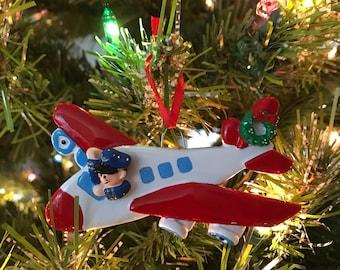 Airplane Pilot Ornament
