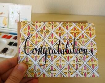Congratulations Blank Card Watercolor