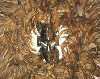 Authentic African Feather Wreath