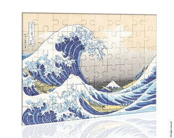 jigsaw Puzzle The great wave off Kanagawa-jigsaw Puzzle-Hokusai puzzle-the great wave puzzle-Kanagawa-Toys & Games-by NATURA PICTA-NPZ005