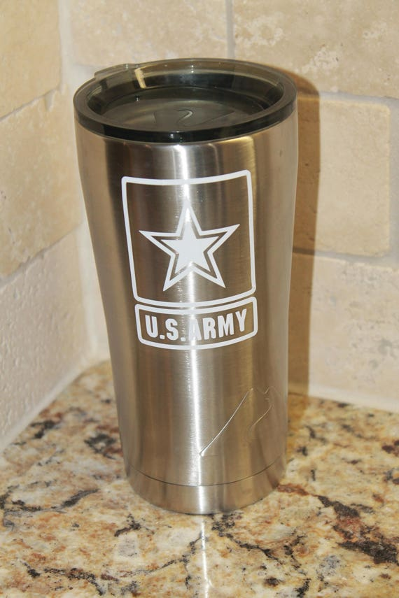 sticker, us army vinyl decal, Army yeti Decal, Army girlfriend decal, Army Jeep, Veteran Army, boot camp graduation, cup