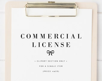 COMMERCIAL - no credit extended license for clipart