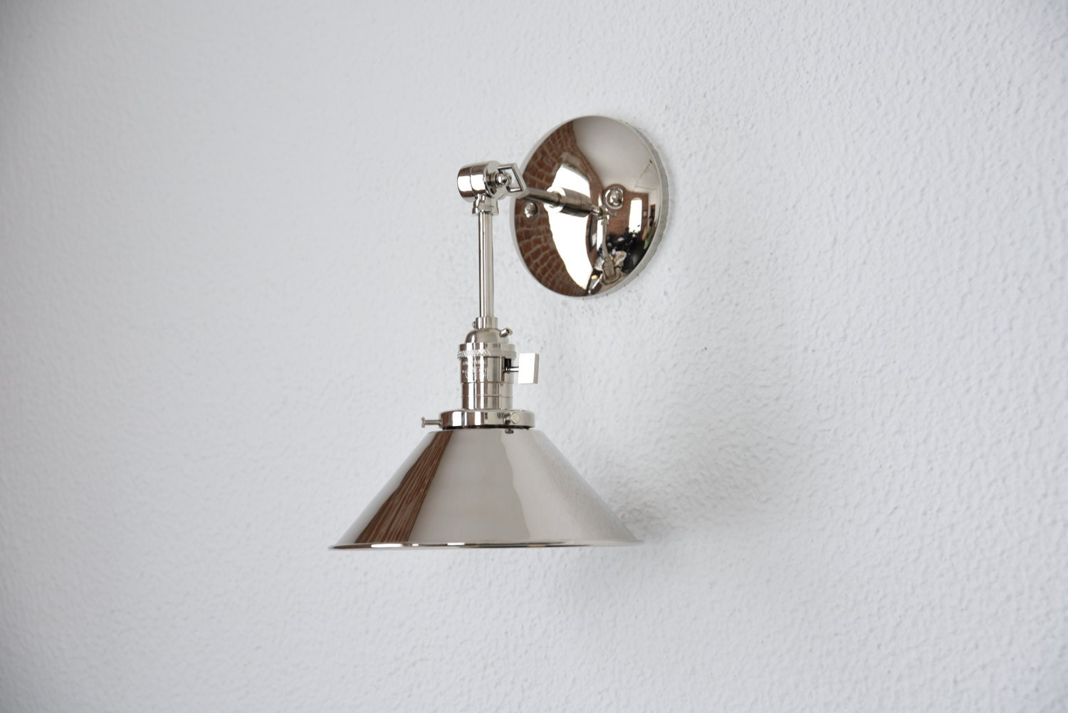 zoom city light kichler sconce wall polished loading loft modern nickel kic