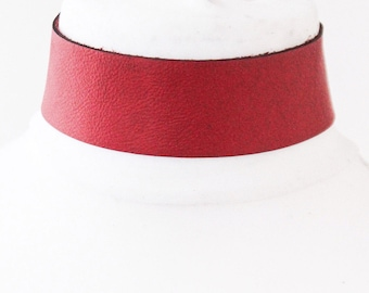 Red Leather Choker | Red Choker Necklace | Red Leather Jewellery | Red Leather Choker | bdsm Choker wear