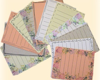 Handmade Note Cards, Journaling Tags, Card set, Tags,Set of 12,Notecards Card Sentiments, Journal, Scarapbook Journaling Tag,Card Captions,