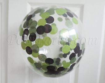 Tmnt Birthday, Birthday Confetti Balloons, Tmnt Party, Birthday Tmnt, Birthday Balloons, Green Birthday Decorations, Confetti Balloons