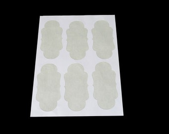 Photo Album Signature Stickers 2.375 in x 4.75 in / White