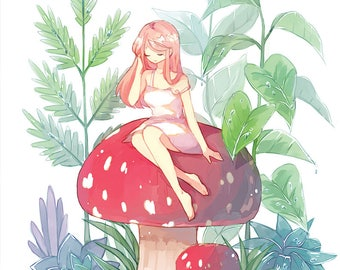 "Toadstool 11""x17"" Poster Print"