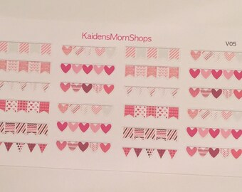 Valentine Daily Banner Sticker Set - V06