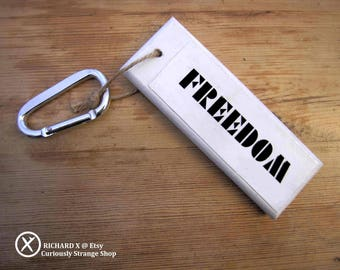FREEDOM Keyring : Few words need said (for the Curiously Strange) Dancing Spirals
