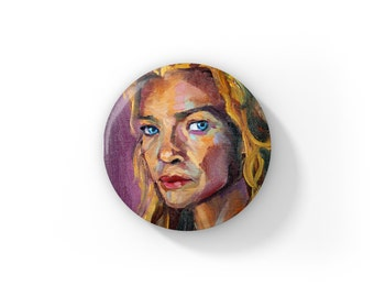 """Individual Fan Art Andrea Walking Dead Actress Laurie Holden by Jess Kristen Button Pins or Magnets 1"""""""