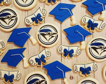 Graduation decorated sugar cookies