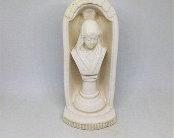 Madonna Statue, Madonna Bust, Mary Figurine, Madonna Shrine, Plaster or Bisque Religious Statue, Religious Figurine