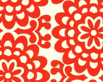 Amy Butler Fabric, Wall Flower, AB17 Cherry, Free Spirit, 100% Cotton, #FS17