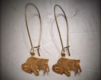 Buffalo Bison Earrings