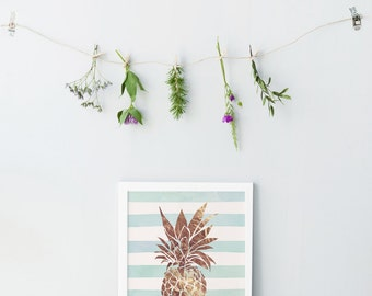 Welcome home print - Welcome print - Pineapple welcome print - Pineapple print - Printable welcome frame - Instant download pineapple print