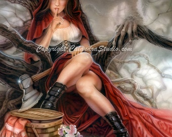 Red Riding Hood - Artist Signed 11x14 Print