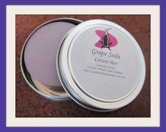 Grape  Lotion, Fruit Scented Lotion Bar, Cherry Lotion, Solid Lotion Bar, Apple Lotion, Custom Lotion Bar, Monkey Farts Lotion