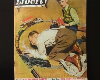 Liberty Magazine, November 23 1946, LIONEL TRAIN CATALOG in 16 Color Pages, Scarce