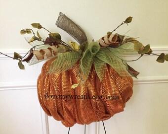 deco mesh pumpkin, Pumpkin wreaths, fall wreaths, burlap wreaths, Halloween decor, fall door wreaths, fall decor, pumpkin decor, pumpkin